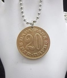 Coin Necklace Yugoslavia 20 Para Brass Coin by AutumnWindsJewelry, $12.00