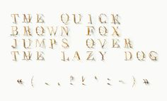 """CJWHO ™ (TYPICK Font by Jerome Haldemann """"I was given the...)"""
