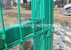 Double wire mesh fence uses high quality low carbon stainless steel wire as raw material. It is welded with one vertical wire and two horizontal wires; this can be strong enough, compared to the normal welded fence panel. The wire diameters are available, such as 6mm×2+5mm×1 ,8mm×2+6mm×1. It obtains high strong powers to resist the construction.