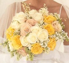 bridal bouquet yellow roses   ... beautiful bouquets would make any bride very happy on her wedding day