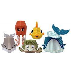 Paper toys marine team  Papier recyclé / recycled paper Mibo pour Coq en Pâte #papertoys #coqenpate
