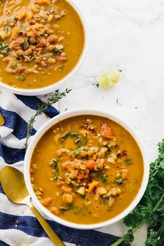 This Easy Lentil Soup is loaded with delicious spices and very simple to put together. It's wonderful alone or as a side dish and is vegan and gluten free.