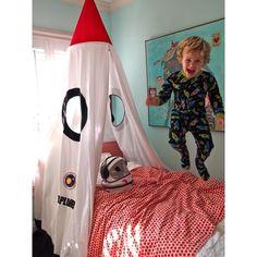 Mombasa Kid's Rocket Bed Canopy, White