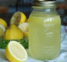 Old Fashion Lemon Concentrate- 5lb sugar, 1 0z. tartaric acid (from drug store), 2 oz. citric acid, 3 oranges, 3 lemons, 7 cups boiling water.---Pour boiling water over sugar & acids.  Add grated rinds & juice of fruit.  Let stand overnight.  Strain, bottle & store in fridge or freezer.