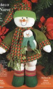 muñeco nieve zapatos verdes 50