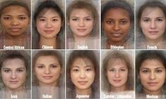 Pictures of women from 41 different nationalities and ethnicities from around the world were used to achieve the result.
