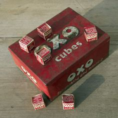 Vintage Oxo Cube Tin with Original Cardboard Cube Packaging Vintage Food, Vintage Tins, Vintage Recipes, Retro Vintage, Antiquities, Vintage Posters, Childhood Memories, Home Accessories, Cube