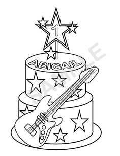 rock stars coloring pages - photo#32
