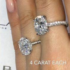 4 Carat Oval Diamond Engagement Rings