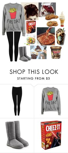"""""""I am so hungry...I basically just tortured myself making this..."""" by lifesucks-musichelps ❤ liked on Polyvore featuring M&Co, Adolescent Clothing, UGG Australia and Dot & Bo"""