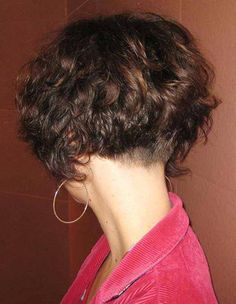 Curly  Bob cut  with buzzed  nape ;)
