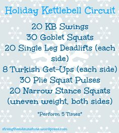 Holiday Kettlebell Circuit