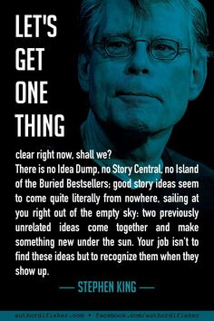 This Stephen King quote—like much of what he advises for writers—doesn't mince words. Straight to the point from the voice of experience. Quotes for writers, writer quotes, quotes on writing, writing quotes, writing inspiration. Creative Writing Tips, Book Writing Tips, Writing Words, Fiction Writing, Writing Skills, Writing Prompts, Stephen King Quotes, Writer Quotes, Film Quotes
