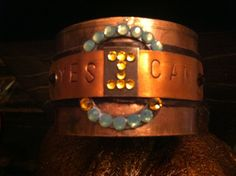 Yes I Can Cuff bracelet  by Treatsmadewithlove on Etsy, $40.00