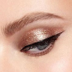 Magnificent Metals Glitter & Glow Liquid Eye Shadow - Bronzed Bell 4.5ml