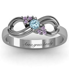 I am obsessed with this ring! It is beautiful! Solitaire Infinity Ring with Accents | Jewlr