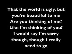Day 5: a song that reminds me of someone. My Chemical Romance - The World is Ugly. This song kills me.