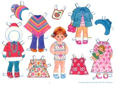 Norwegian Paper Dolls 1970s we use to pretend these were the kids to our older paperdolls