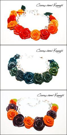 Roses Bracelet Polymer Clay/ Bracciale Rose Fimo