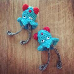 #072 Tentacool modèle crochet gratuit avec tuto photo-#072 Tentacool free crochet pattern with step-by-step photo tutorialComme il me restait un pe