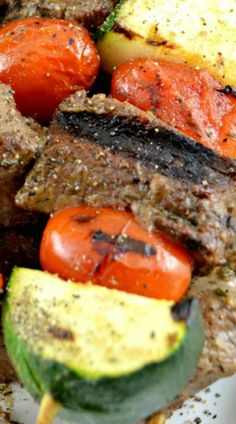 Shish Kabobs……tender, flavorful chunks of delicious marinated meat cooked and served on a stick