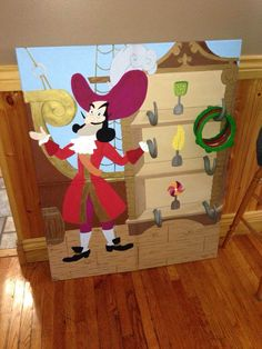 captain hook ring toss game | The kids ate lunch, we did presents and then cake! All in all it was a ...