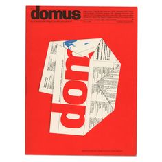 Domus cover. Alan Fletcher