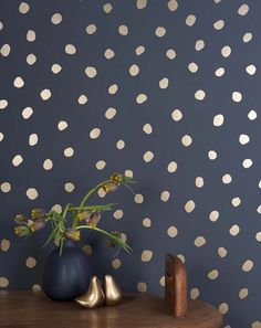 Fabulous gold polka for wallpaper. New Wallpaper from Juju Papers on Design*Sponge