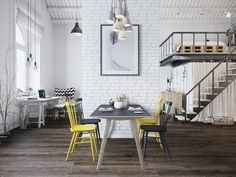 yellow-dining-chair | 15 Scandinavian Dining Tables | These Scandinavian tables will sure bring simplicity to your dining room. | http://moderndiningtables.net #diningroom  #moderndiningtable #minimalism #nordicstyle #scandinavian #Scandinaviandesigners #scandinavianfurniture #scandinavianstyle #simplicity