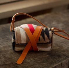 DIY Tribal Leather Wrap Camera Bag