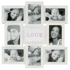 Amour White Collage Photo Frame