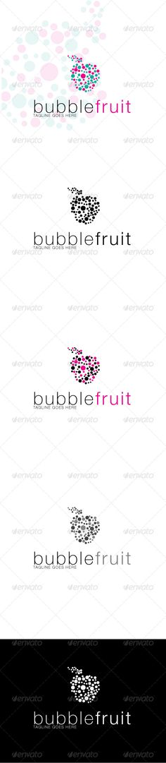 Bubblefruit Logo  #GraphicRiver         It's Good Looking Simple logo Template. It's used Any kind's of Company to related this idea. Featured: 5 Variations EPS 8 Document CMYK – 100 % Vector (Re-sizable) Fully Editable Free Fonts used: Helvetica You Can Download Here:  .fonts /font/linotype/helvetica  	      Created: 14February13 GraphicsFilesIncluded: VectorEPS Layered: Yes Resolution: Resizable Tags: apples #best #bubble #color #colourful