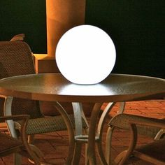 "Ball Rechargeable Light, Pearl, 10"" Dia, with Remote - contemporary - outdoor lighting - by Home Infatuation"
