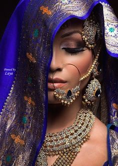 Bridal makeup for a desi bride. #Indian #makeup