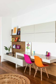 24 Ways To Decorate And Organize A Kids' Study Nook - Shelterness Study Table Designs, Study Room Design, Study Nook, Kids Room Design, Kids Study Table Ideas, Study Room Kids, Study Space, Study Ideas, Home Design