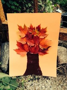 CUTE fall tree for a fun craft project at home or school! Pinning!