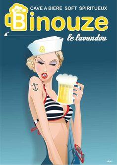 ~ Loizo (Laurent Loiseau) Art Deco Illustration, Digital Illustration, Illustrations, Jpg To Vector, Vector Free, Beer Cartoon, Madison Avenue, Retro Art, Vintage Travel Posters
