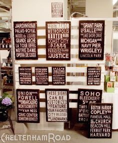 Simple Wall Display for Craft Booth