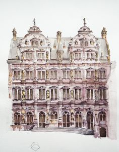 Germany. Watercolor. Pen. Graphic.