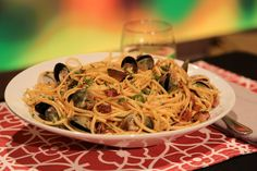 the chew | Recipe  | Michael Symon And Mario Batali's Linguine With Clams And Pancetta