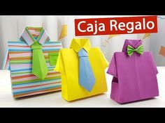 🎁 Caja de regalo en forma de camisa para el Día del Padre - YouTube Paper Crafts Origami, Baby Knitting Patterns, Holidays And Events, Mom And Dad, Fathers Day, Creations, Gift Wrapping, Baby Shower, Diy Crafts