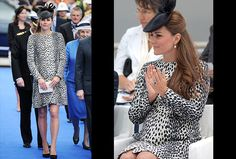 "Catherine, the Duchess of Cambridge has just completed her final solo engagement before taking maternity leave.The duchess looked glowing as she christened the Royal Princess cruise ship wearing a leopard-print coat by UK retailer Hobbs, a black fascinator and black heels.Duchess Kate, who is due to give birth to her first child with husband Prince William in July, told the gathered crowd ""I name this ship Royal Princess, may God bless her and all who sail in her."