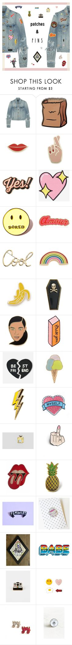 """Patch It, Pin It, Perfect! - Contest Entry"" by amberelb ❤ liked on Polyvore featuring Yves Saint Laurent, PINTRILL, Georgia Perry, Anya Hindmarch, Big Bud Press, Local Heroes, Maria Francesca Pepe, Lanvin, Tuesday Bassen and Hipstapatch"