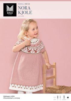 Nora Kjole - Køb billigt her Crochet Bebe, Knit Crochet, Christmas Knitting, Christmas Sweaters, Baby Patterns, Knitting Patterns, Baby Barn, Kids And Parenting, Baby Toys