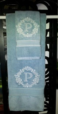 Monogramed Towels