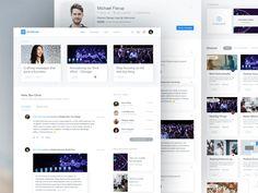 Intranet / Alumni App by Bilal Ck - Dribbble