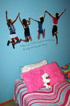 What a great idea for a teen bedroom!  Photo print with custom expression! http://kel.uppercaseliving.net