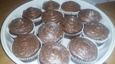 Moist chocolate cupcakes Chocolate Cupcakes, Muffin, Baking, Breakfast, Desserts, Food, Morning Coffee, Tailgate Desserts, Deserts