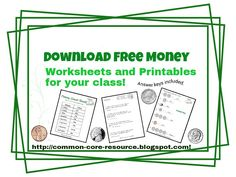 Download free money printables for summer break