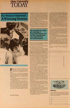 "Ohio University Today, Spring 1986. ""For Women's Basketball--A Winning Season."" :: Ohio University Archives"